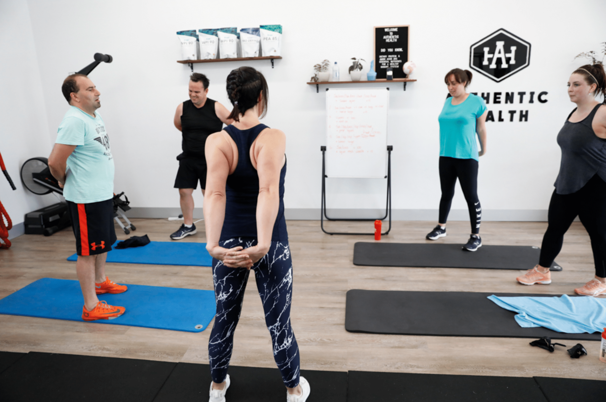 gym class at authentic health studio