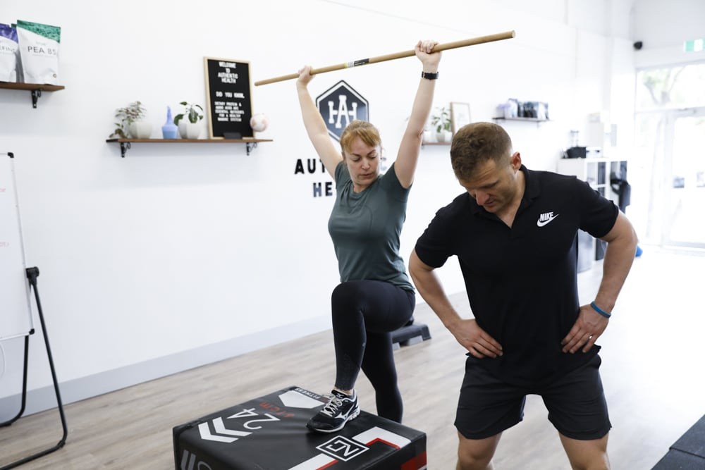 woman performing an exercise