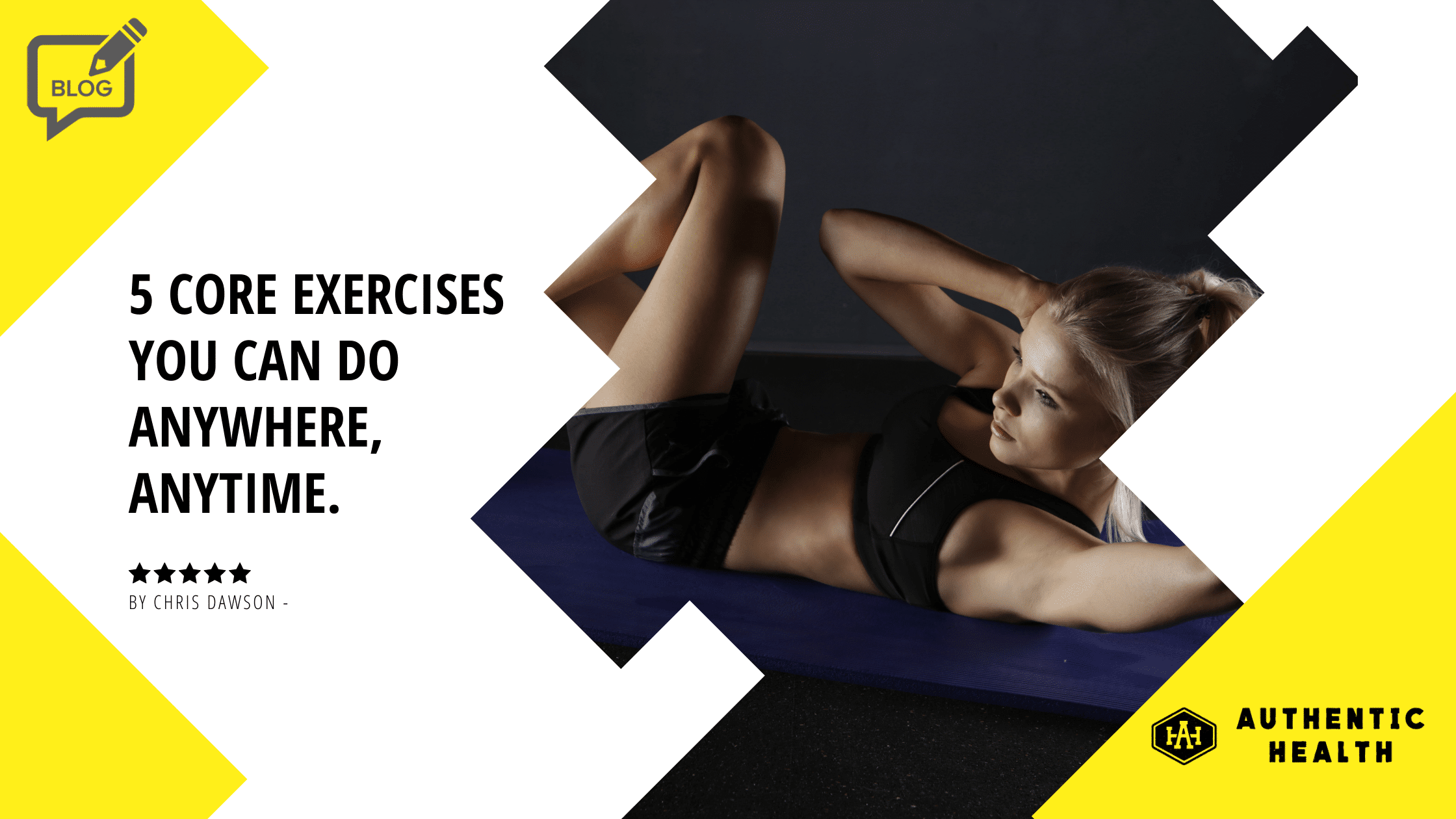 woman performing core exercise